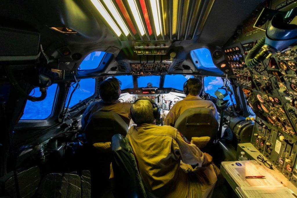 NASA DC-8 Cockpit During Blue Hour