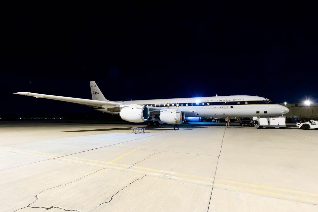 NASA DC-8 at Palmdale Airport