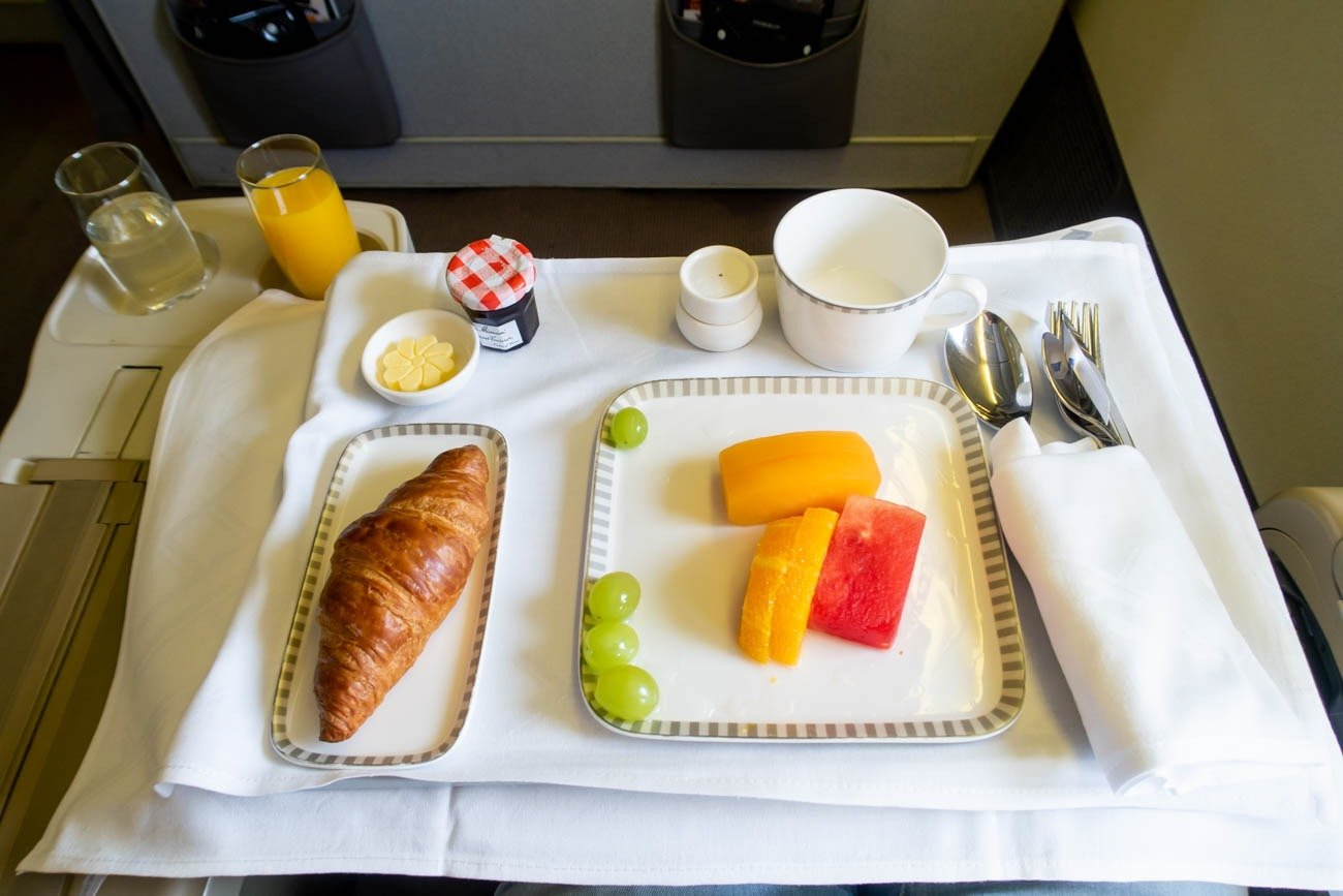 Singapore Airlines Business Class Breakfast