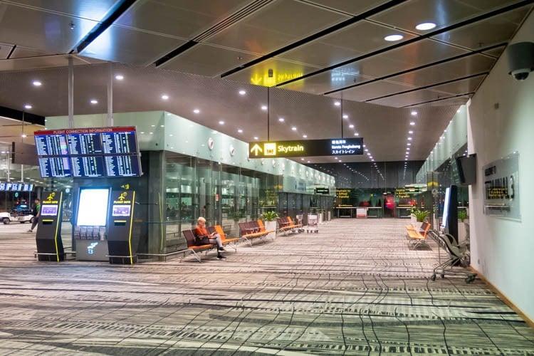 Skytrain Station at Changi Airport