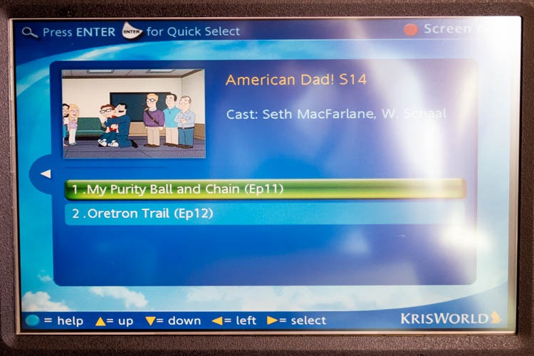 Singapore Airlines KrisWorld TV Shows