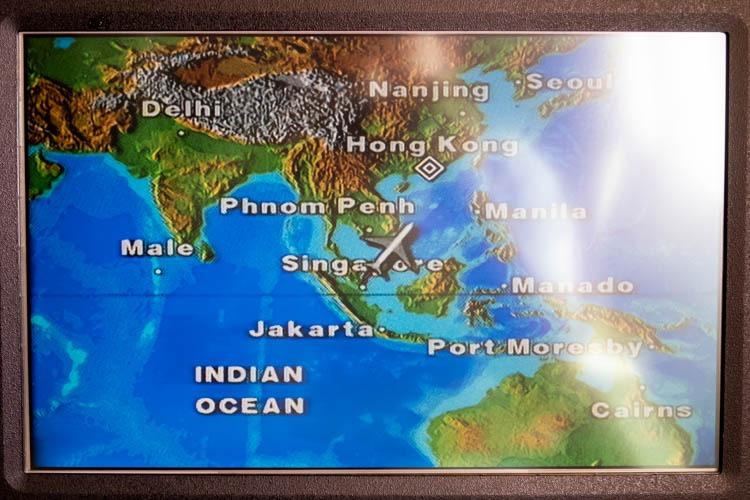 Singapore Airlines KrisWorld Flight Map
