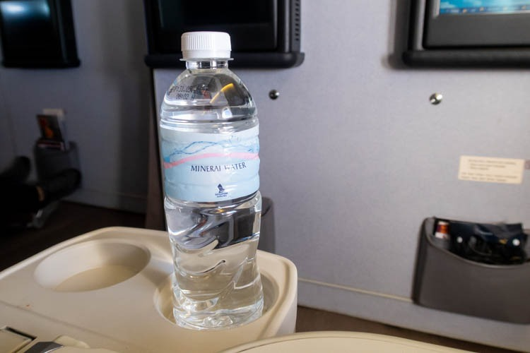 Singapore Airlines Business Class Mineral Water