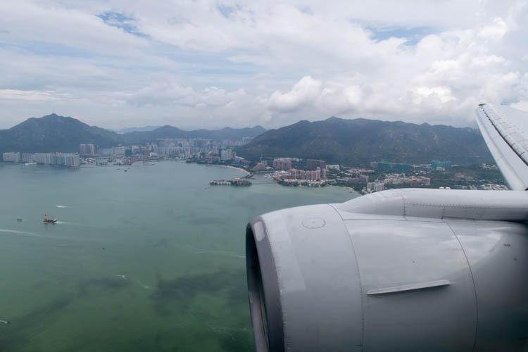 Approaching Hong Kong Airport