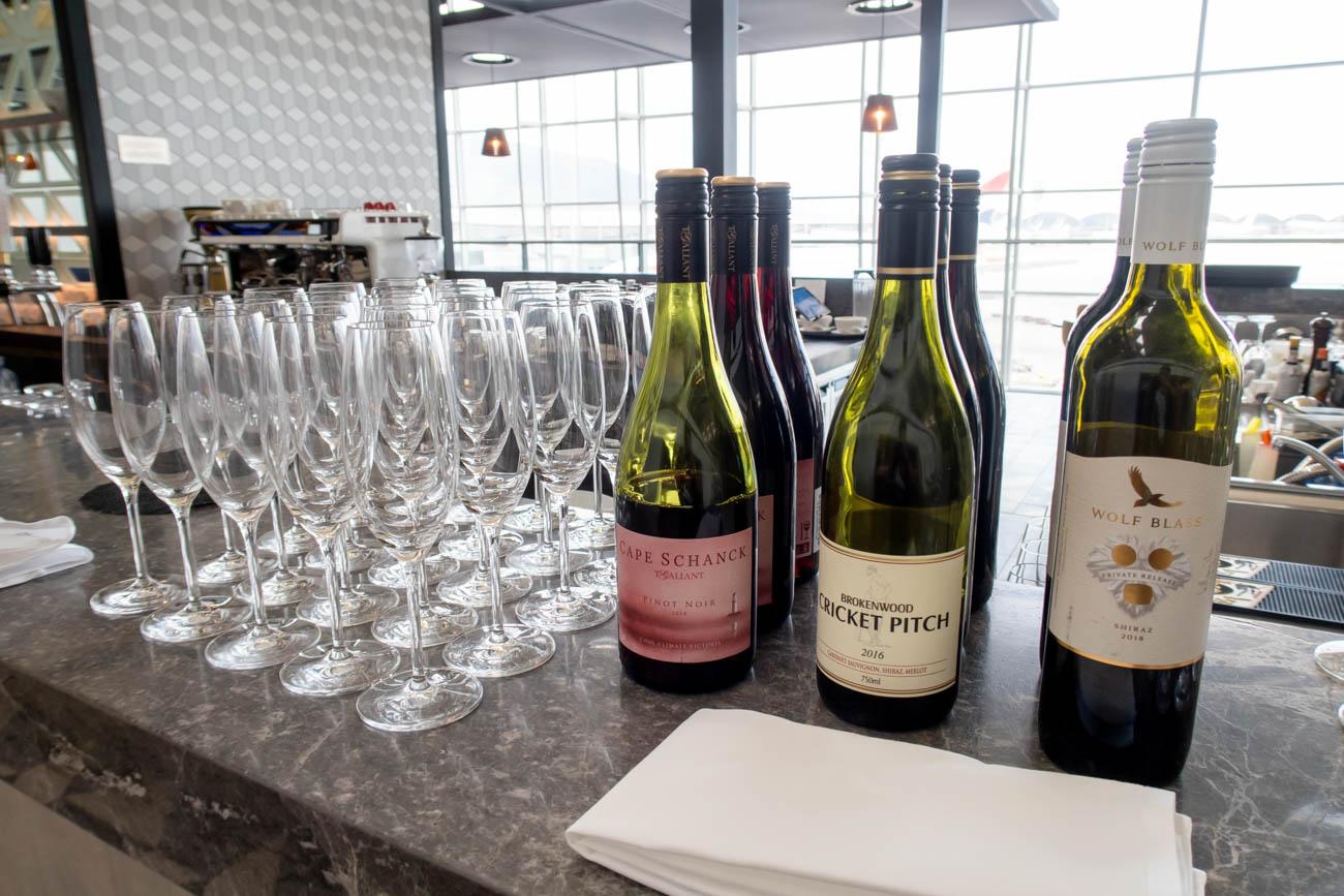 The Qantas Hong Kong Lounge Wine