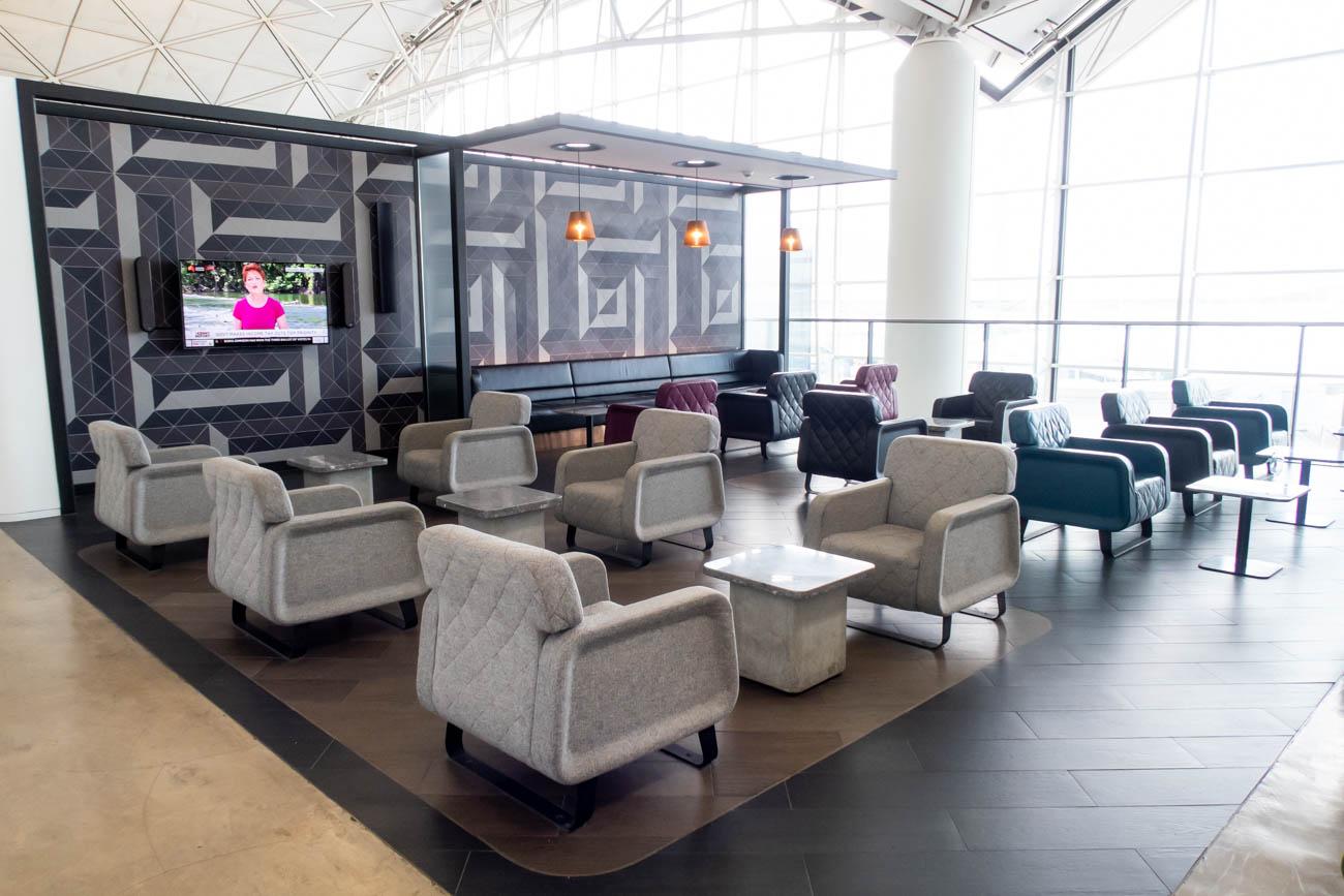 Qantas Lounge Hong Kong Seating