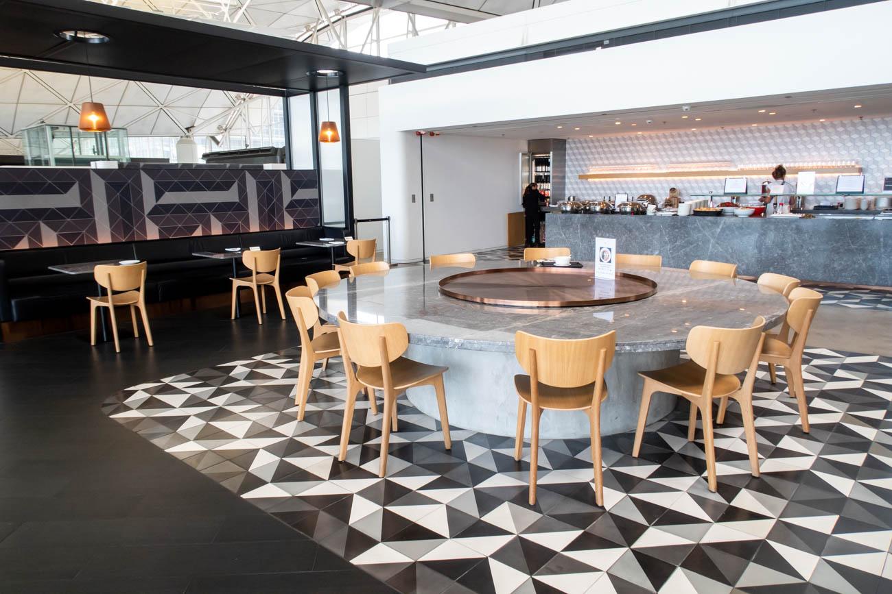 Qantas Lounge Hong Kong Dining Area