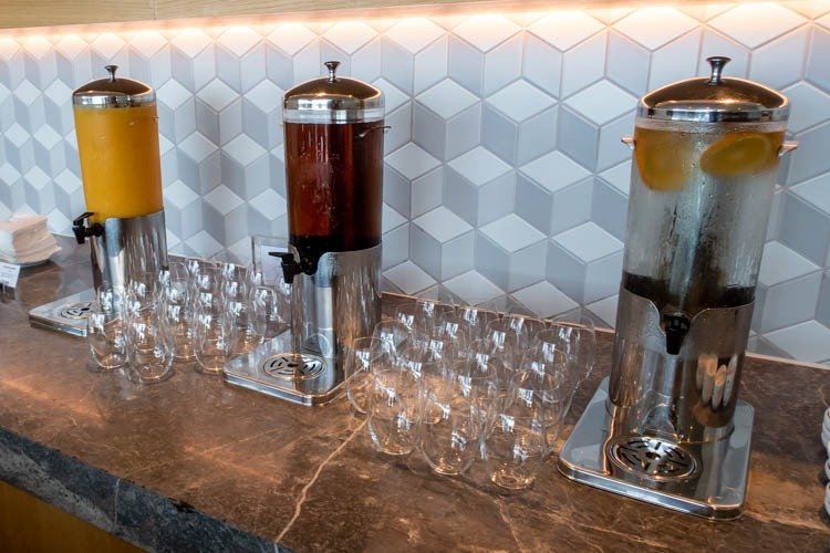 The Qantas Hong Kong Lounge Soft Drinks