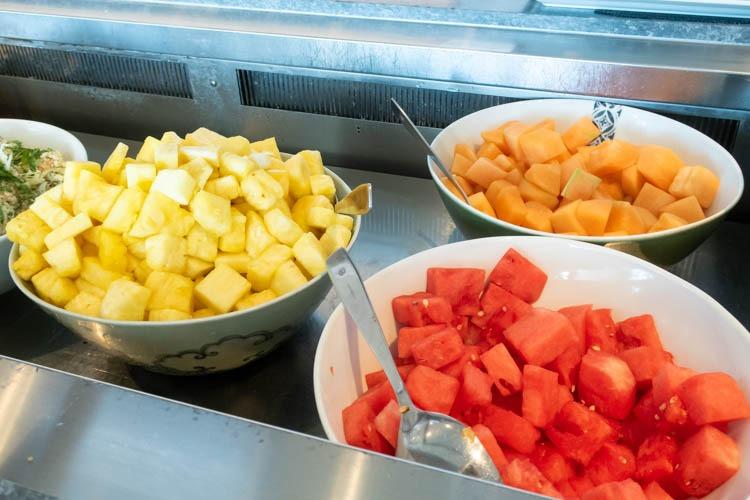 The Qantas Hong Kong Lounge Fruits