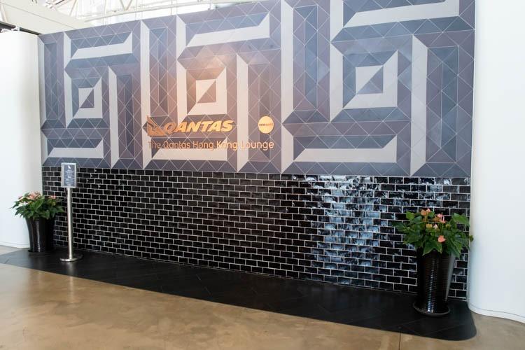 Qantas Lounge at Hong Kong Airport