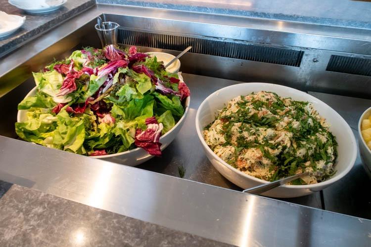 The Qantas Hong Kong Lounge Salads
