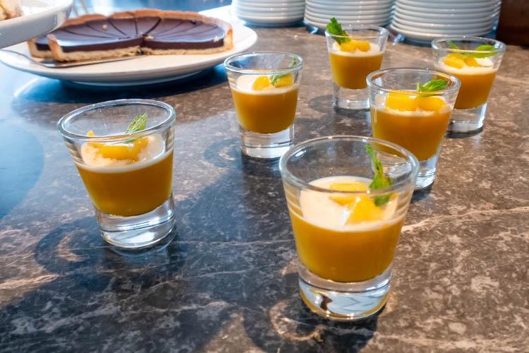 The Qantas Hong Kong Lounge Desserts