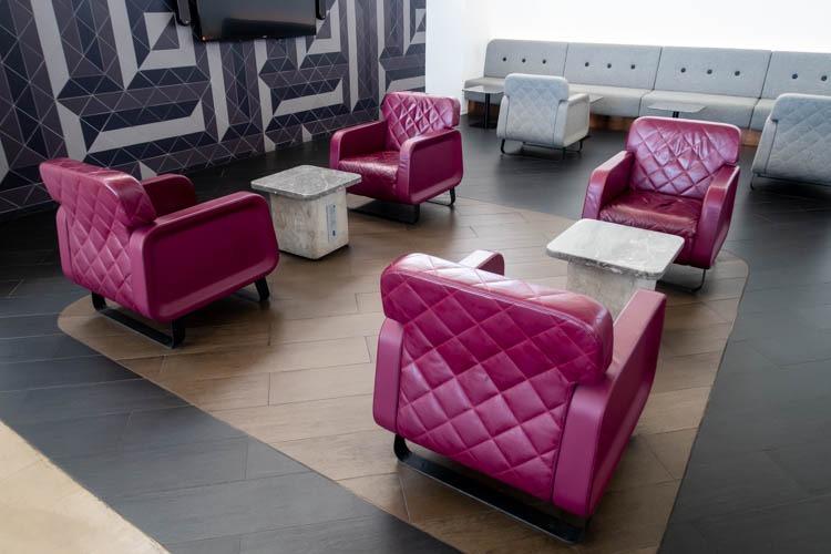 The Qantas Hong Kong Lounge Seating