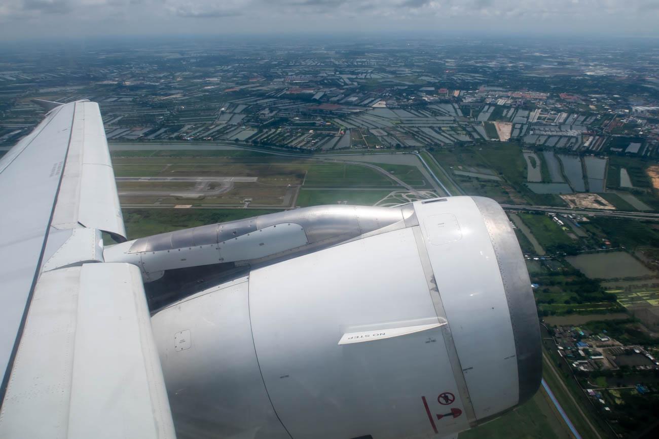 Bangkok Airways A320 Wing