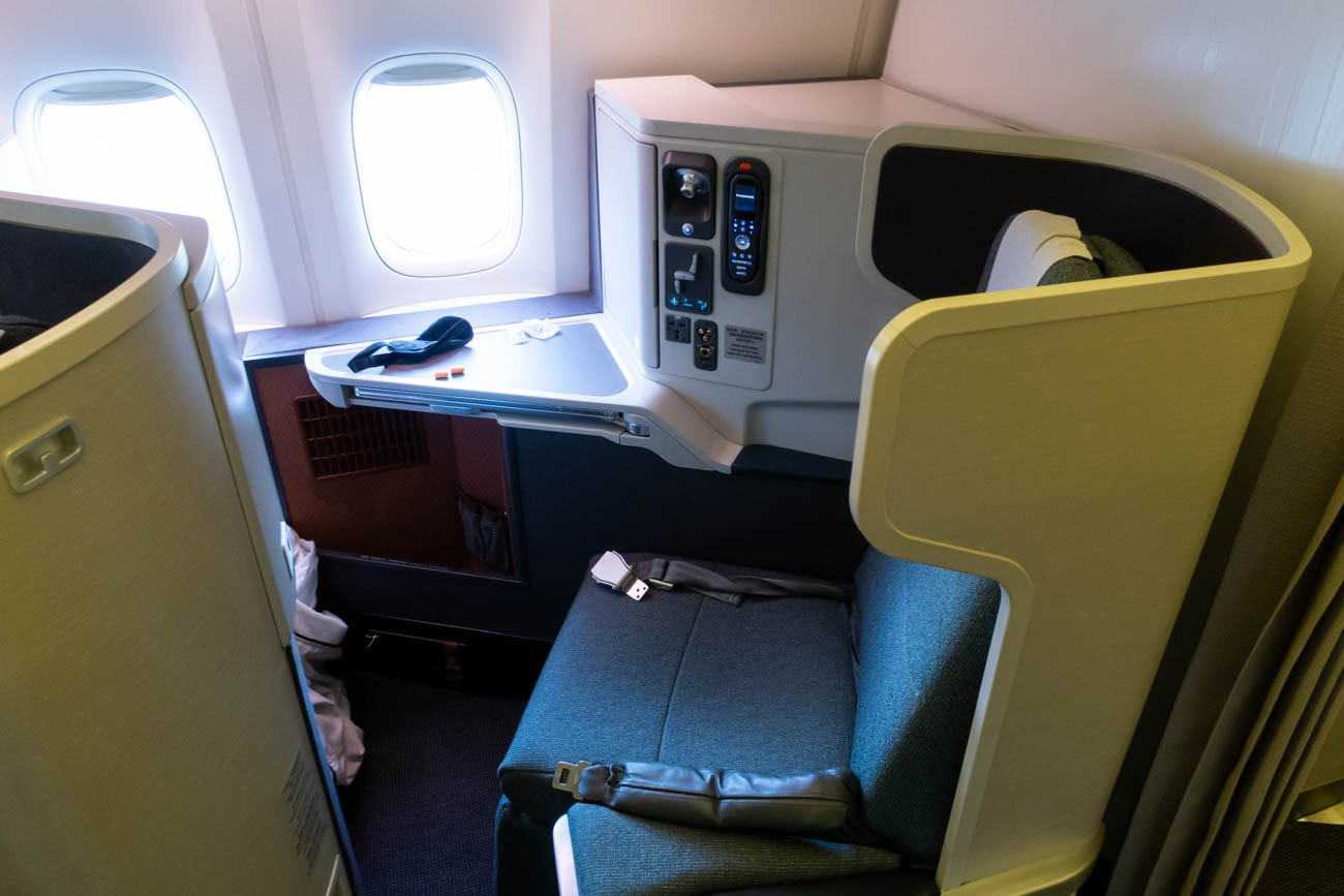 Cathay Pacific 777-300ER Business Class from Vancouver to New Yo