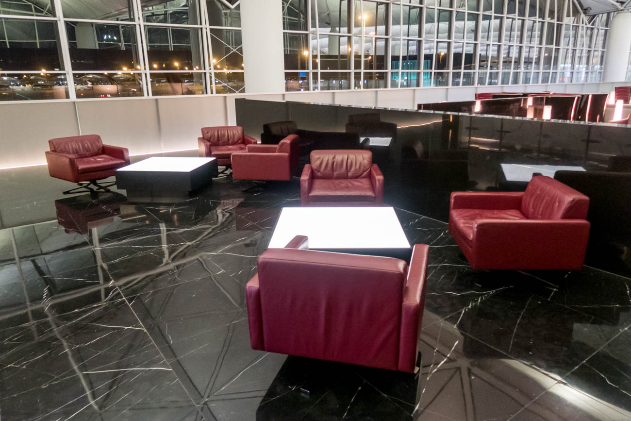 Cathay Pacific The Wing First Lounge Bar Seating