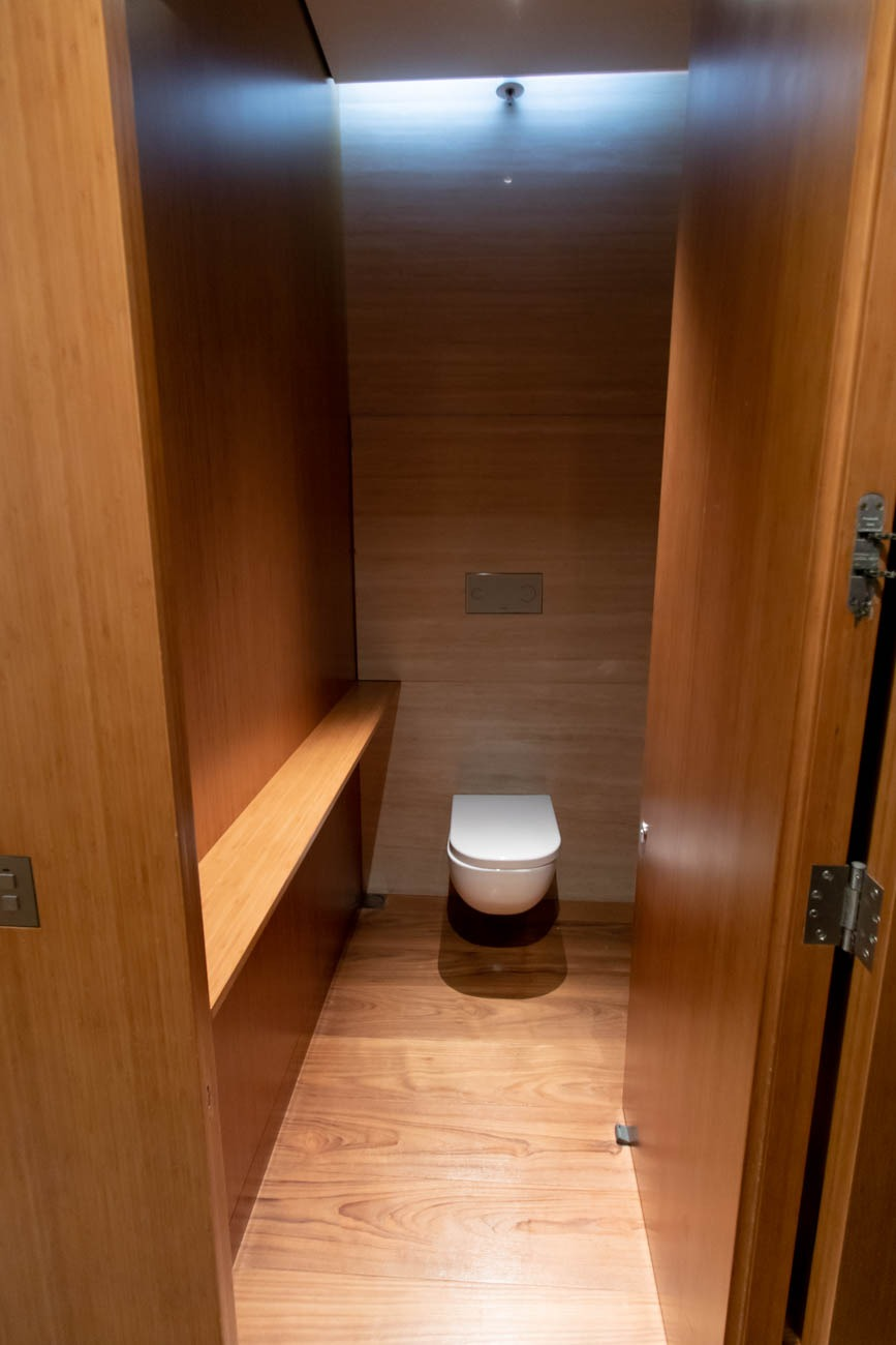 Cathay Pacific The Wing First Lounge Cabana Toilet Room