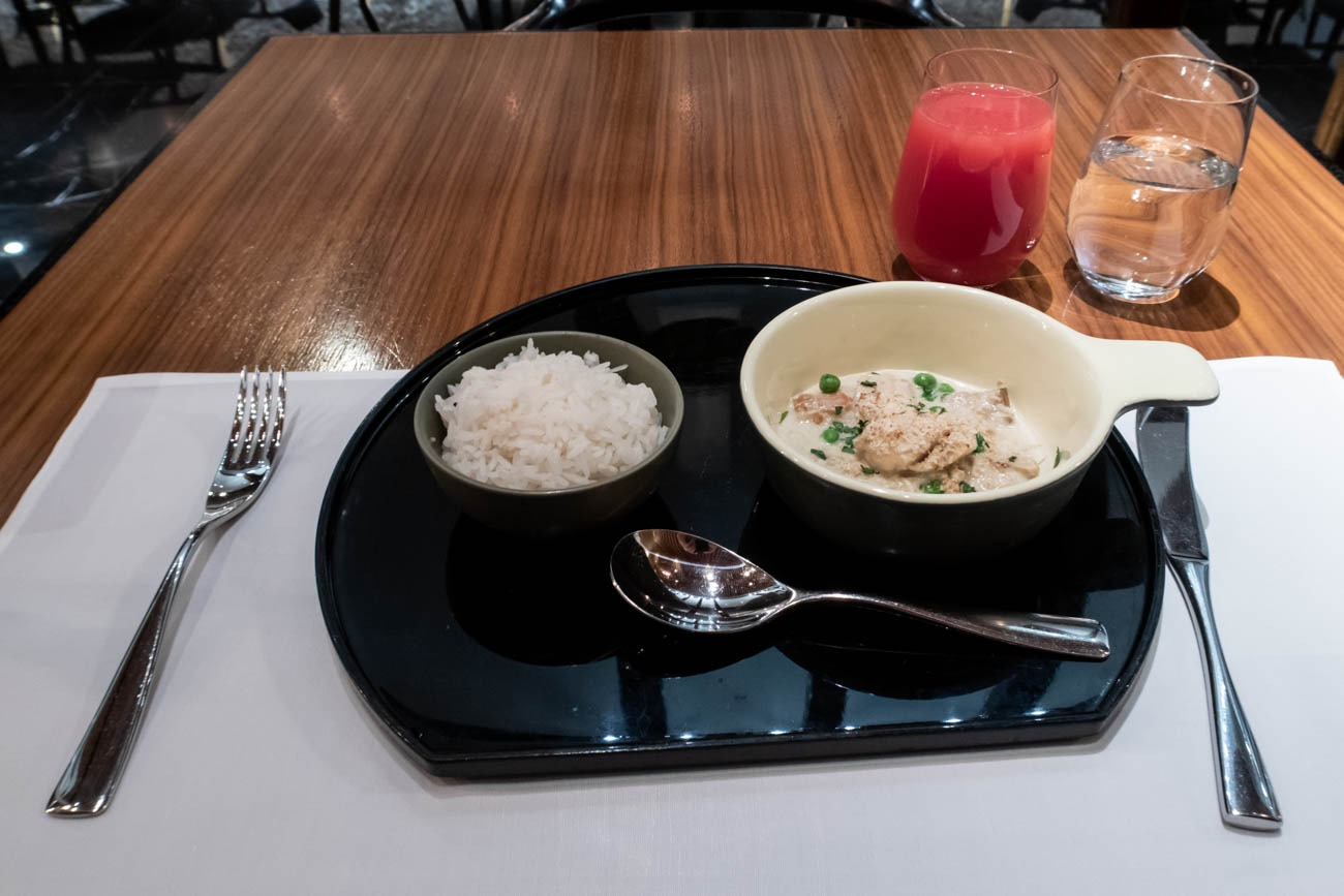 Cathay Pacific The Wing First Restaurant Green Curry