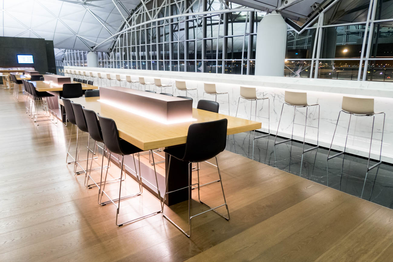 Cathay Pacific The Wing First Lounge Seating