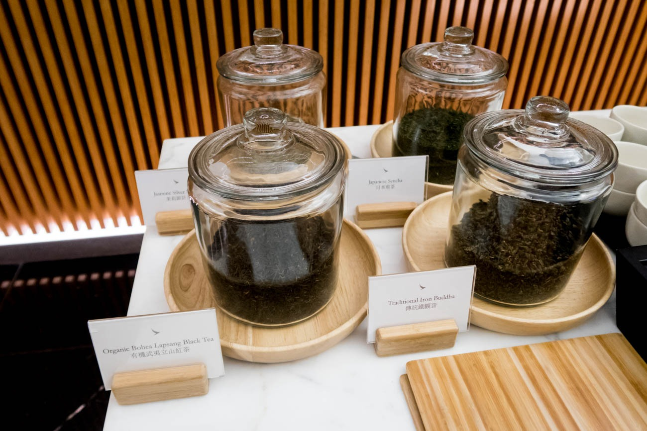 Cathay Pacific The Wing First Lounge Tea