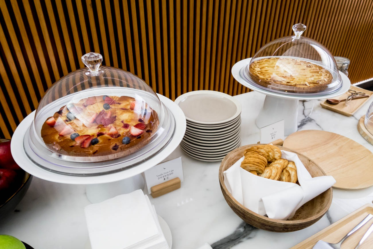 Cathay Pacific The Wing First Lounge Cakes and Tarts