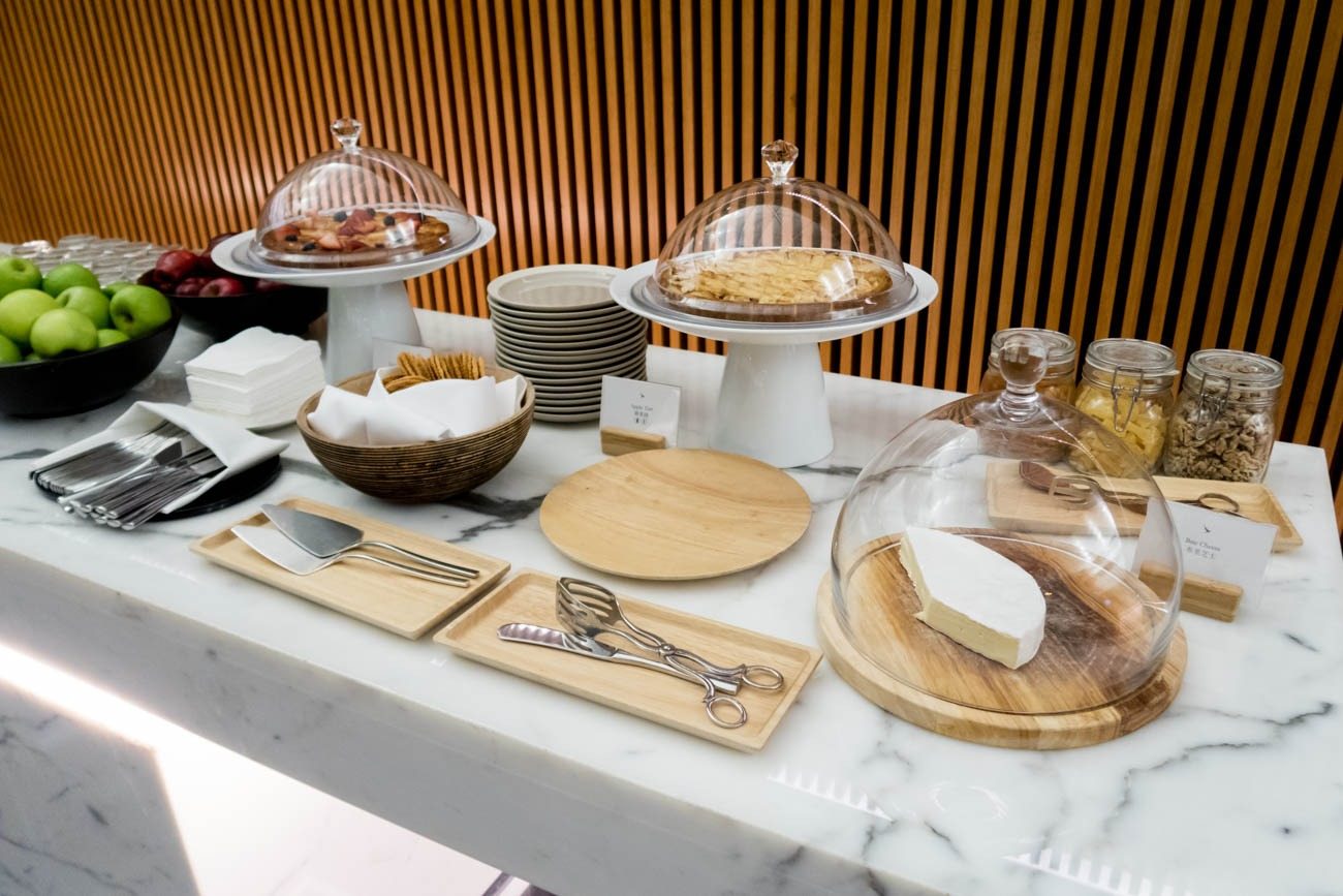 Cathay Pacific The Wing First Lounge Cheese