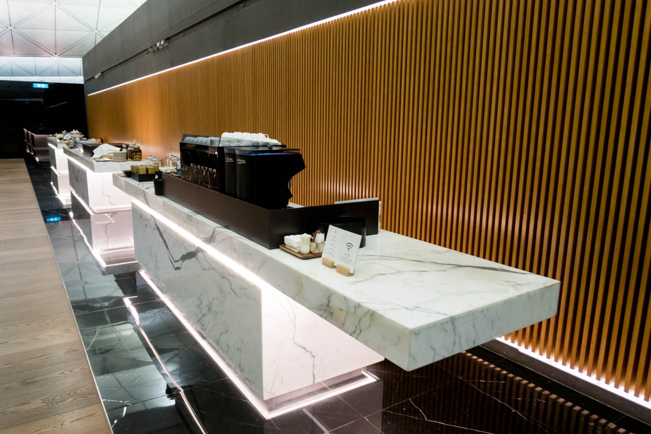 Cathay Pacific The Wing First Lounge Buffet