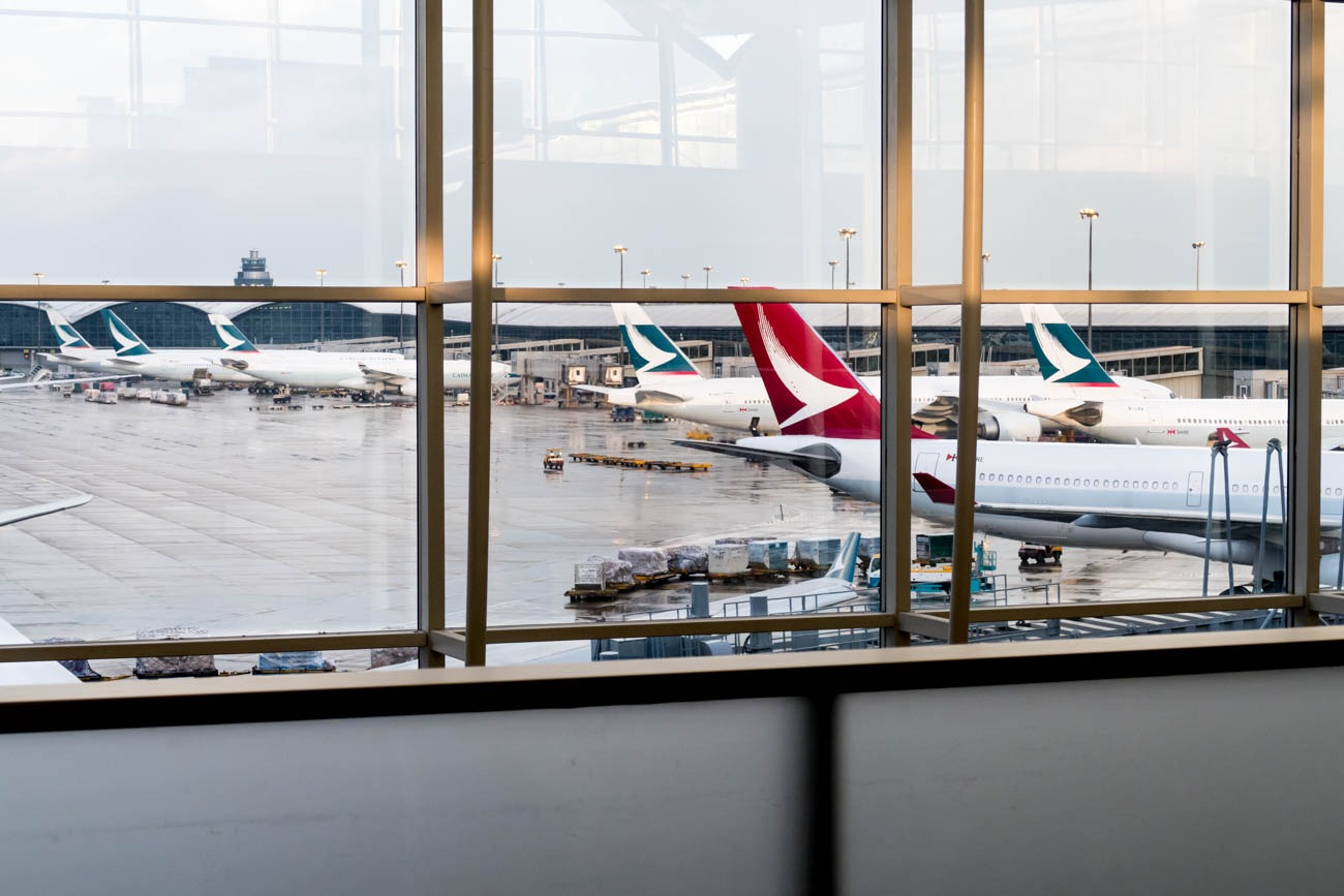 Cathay Pacific The Wing First Lounge Apron View