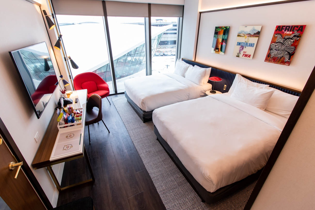 TWA Hotel Deluxe Double Queen Room