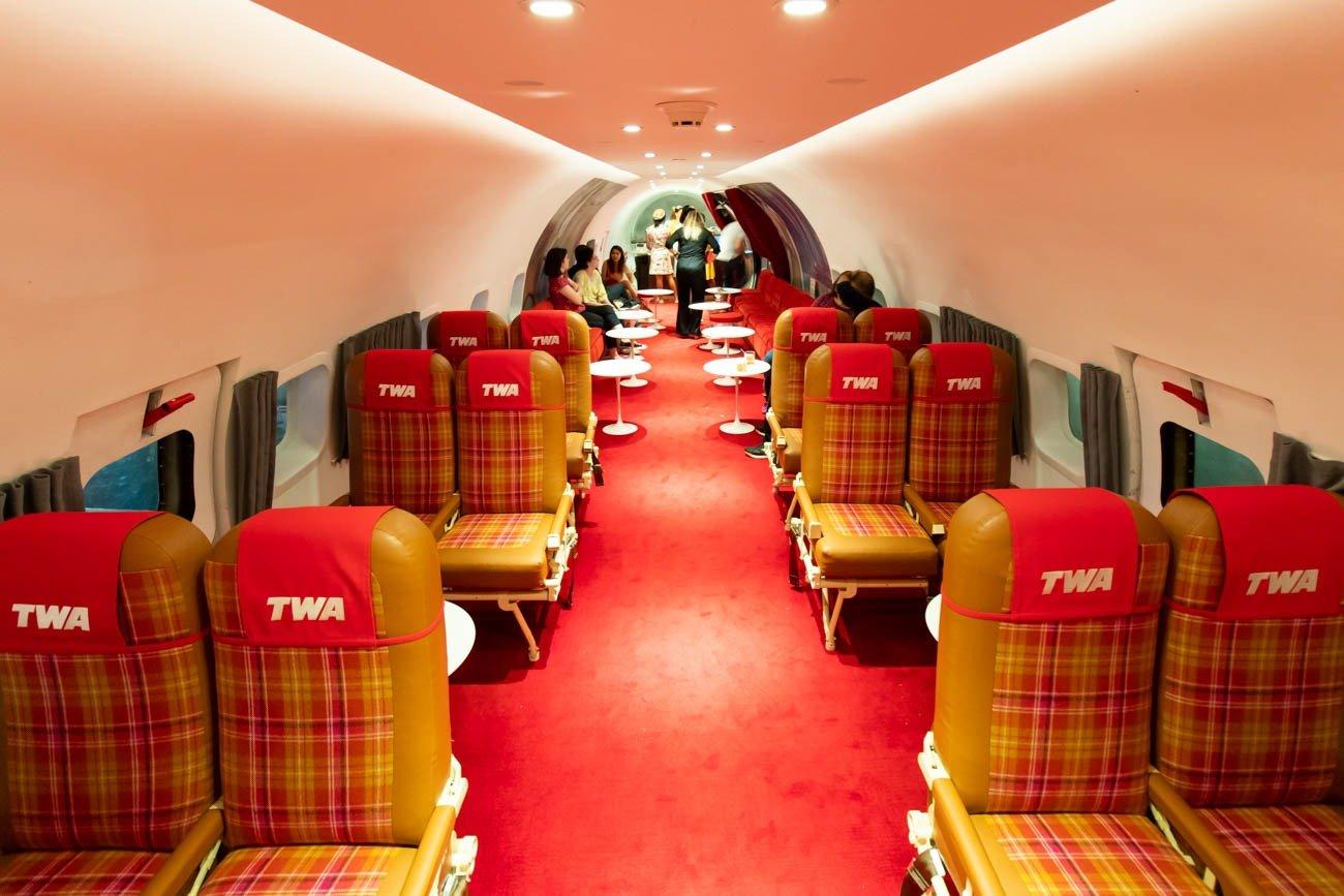 TWA Hotel Connie Cocktail Lounge Interior