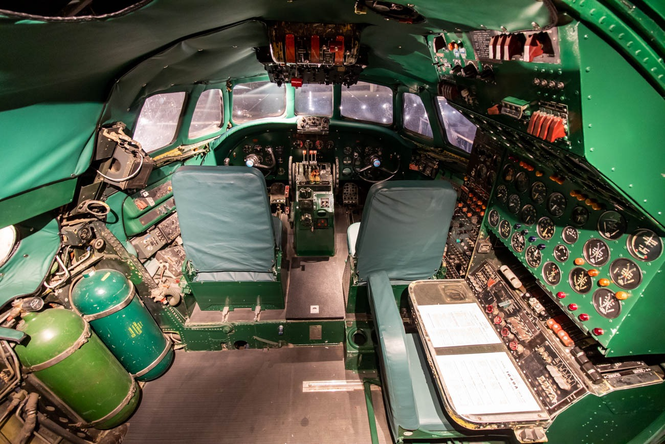 Cockpit of The Connie at TWA Hotel