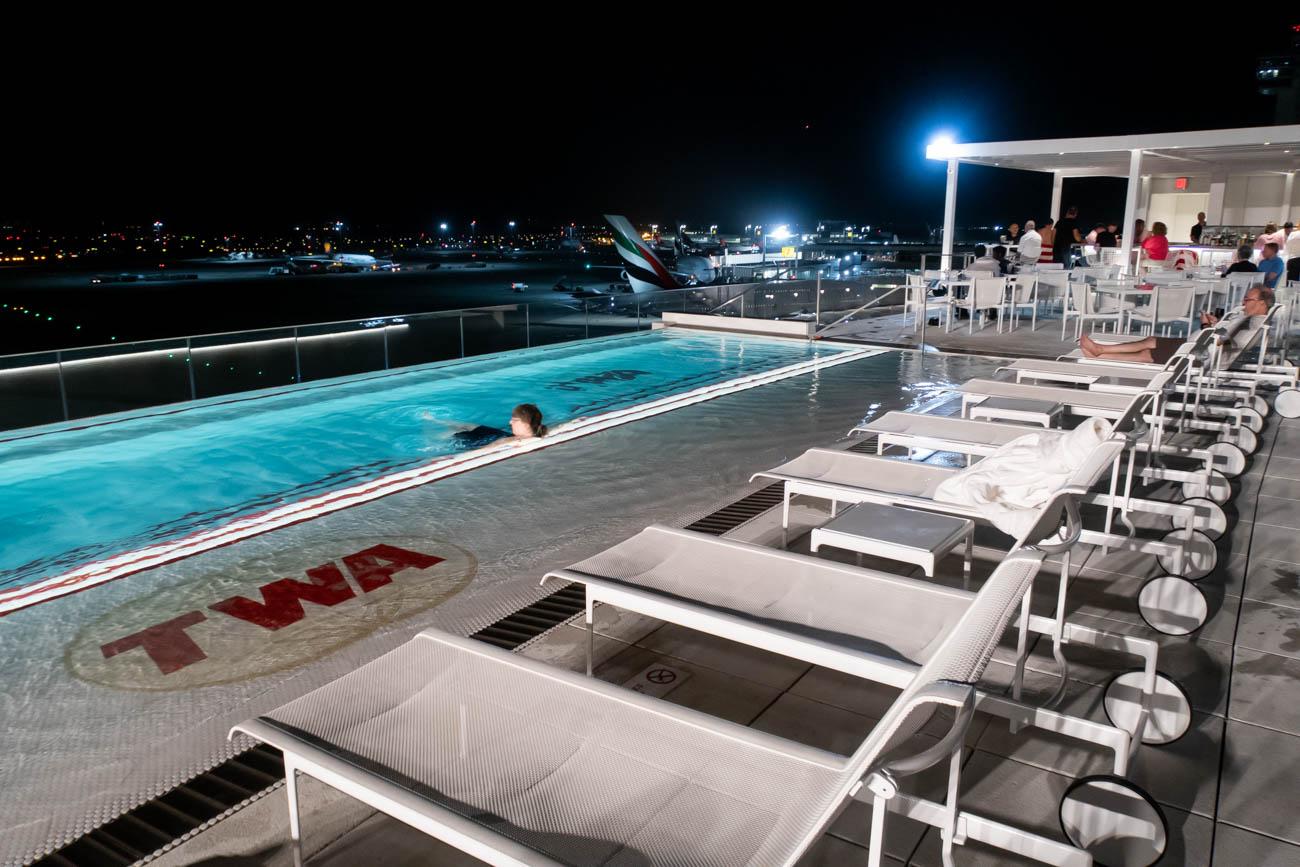 TWA Hotel Pool at Night