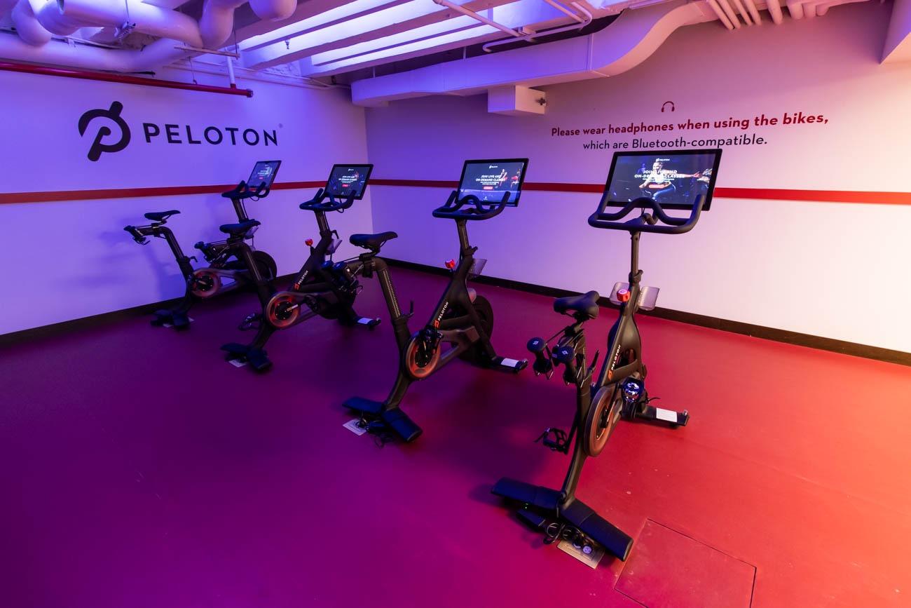 TWA Hotel Peloton Bikes