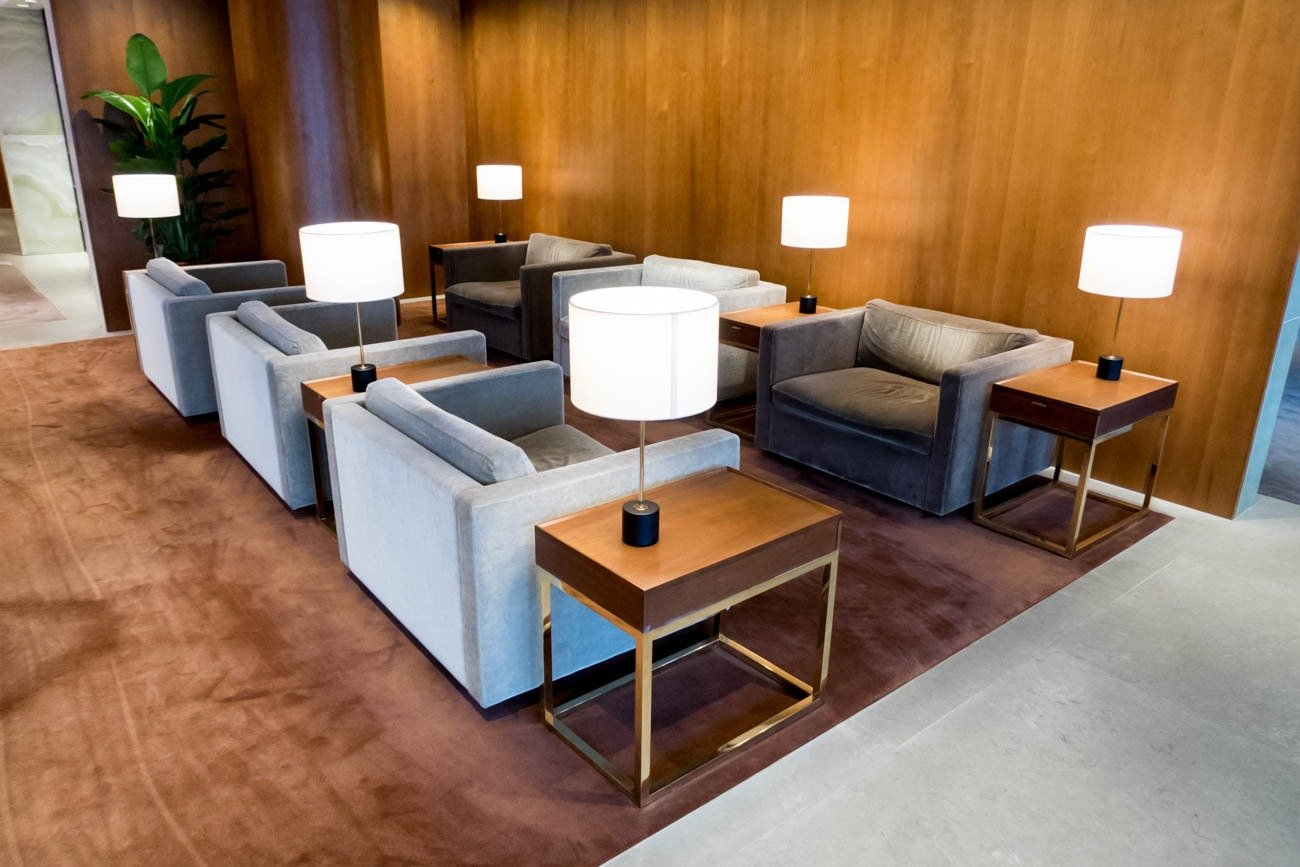 Cathay Pacific The Pier First Lounge Seating