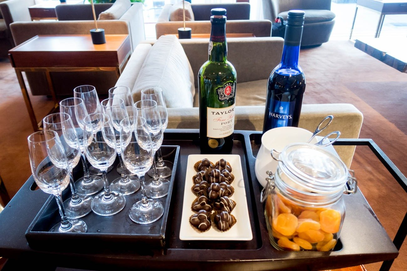 Cathay Pacific The Pier First Lounge Wine Cart