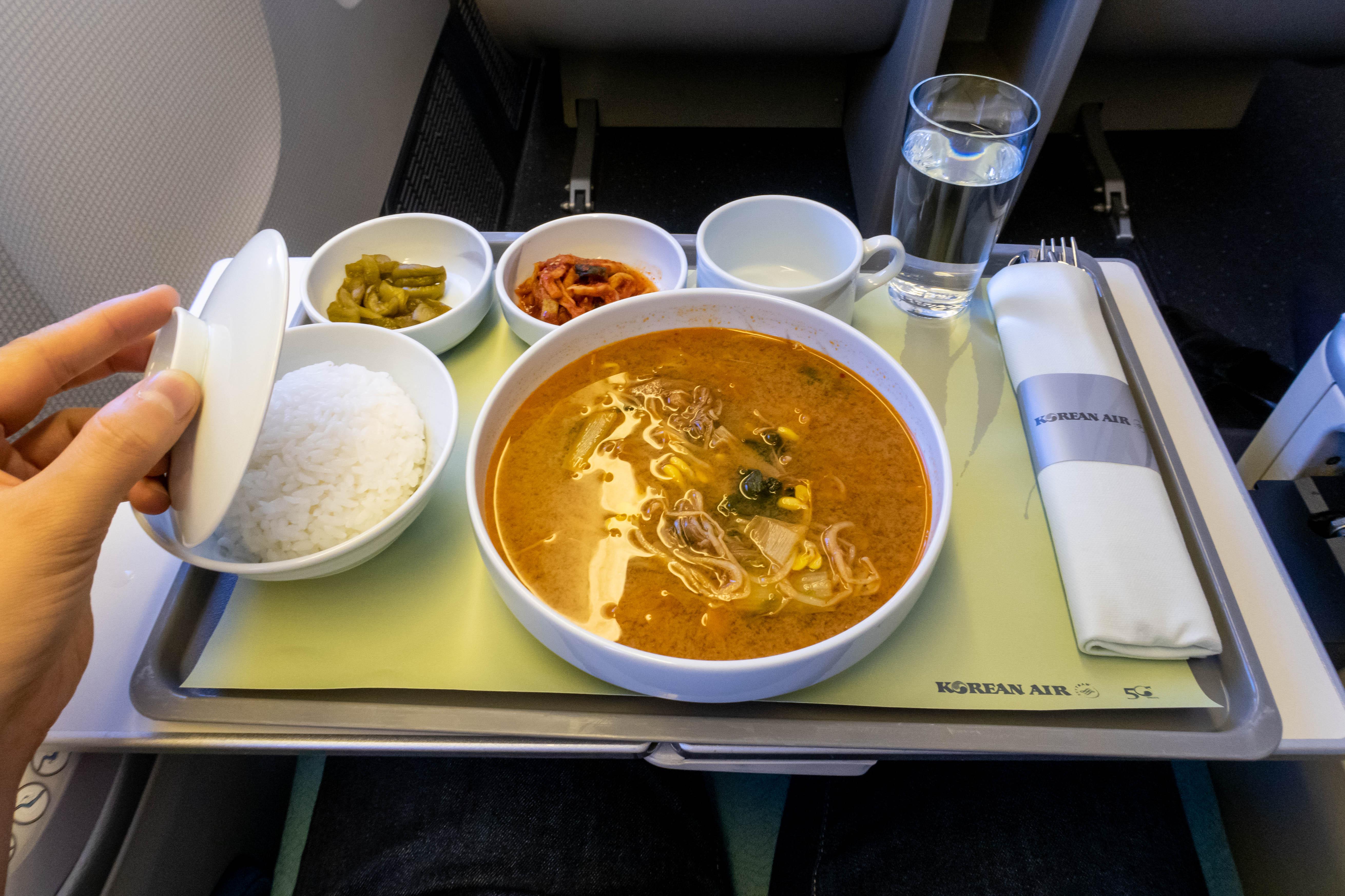 Korean Air Business Class Brunch