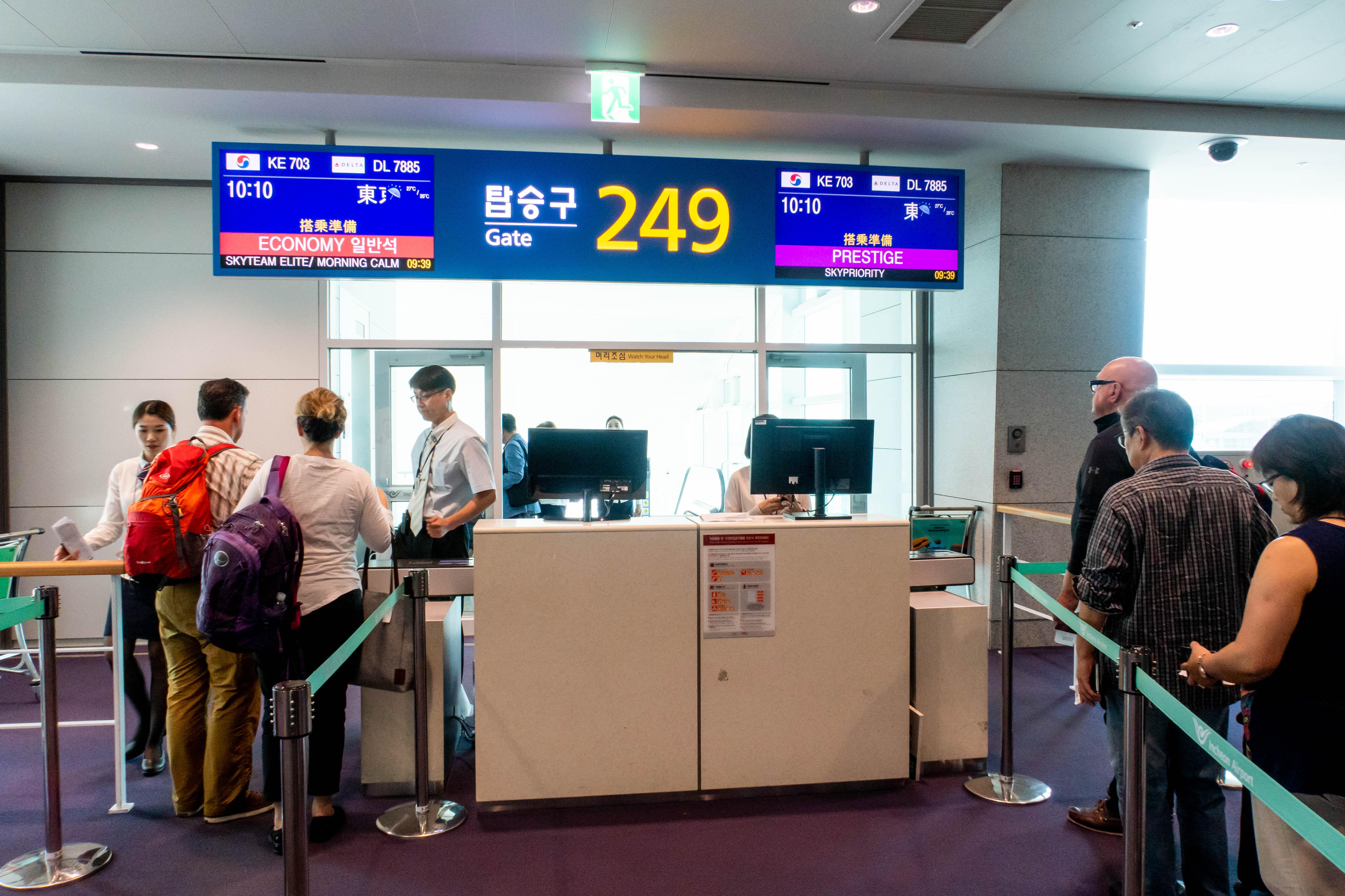 Seoul Incheon Airport Gate 249