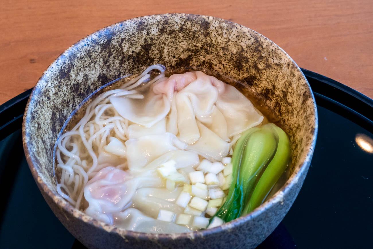 Cathay Pacific Lounge Tokyo Haneda Wonton Noodles
