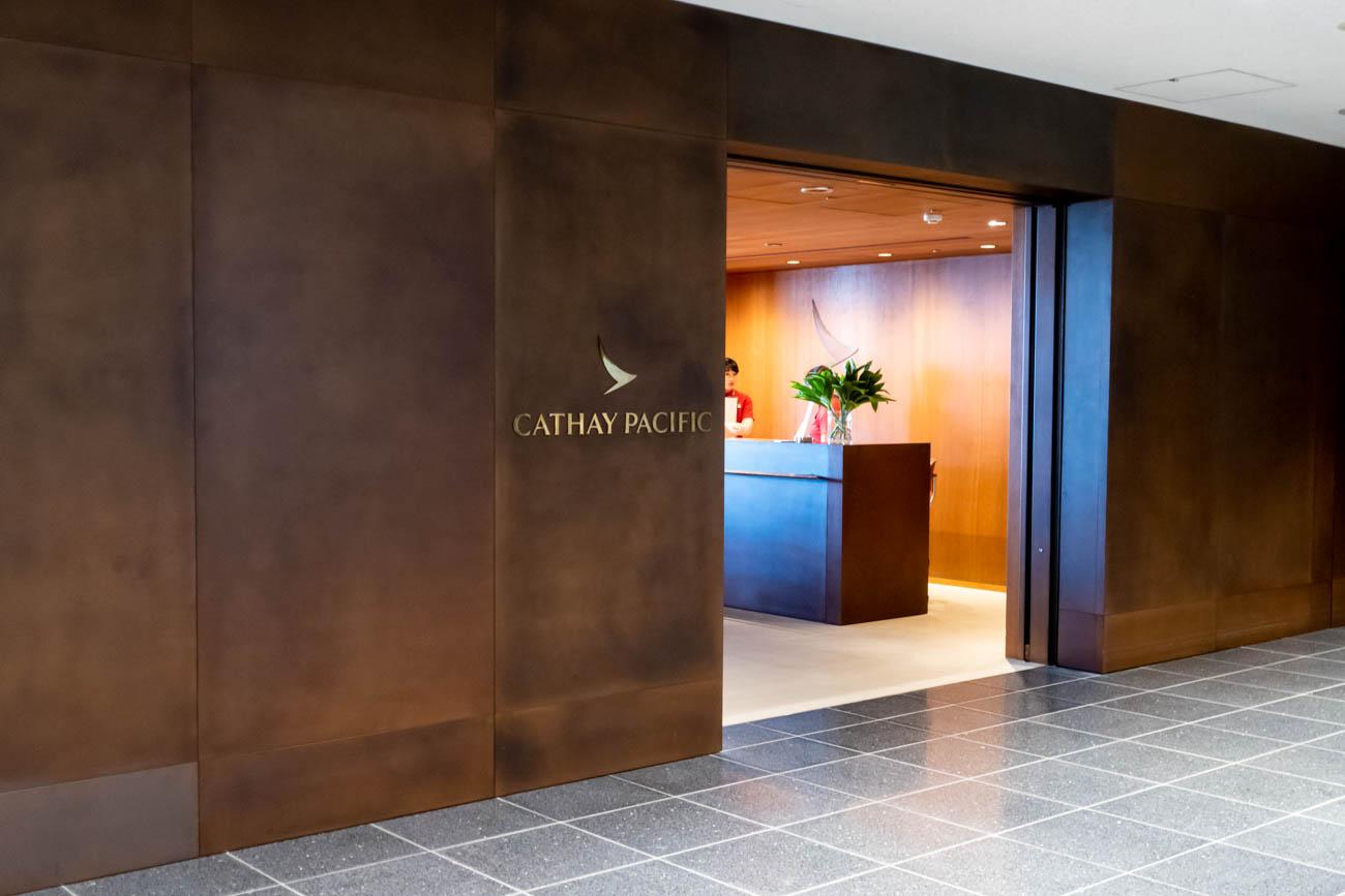 Cathay Pacific Lounge Haneda Entrance