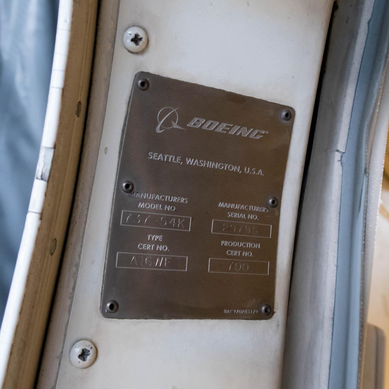 JA307K Data Plate