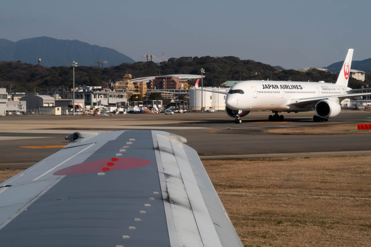 ANA 737-500 and JAL A350