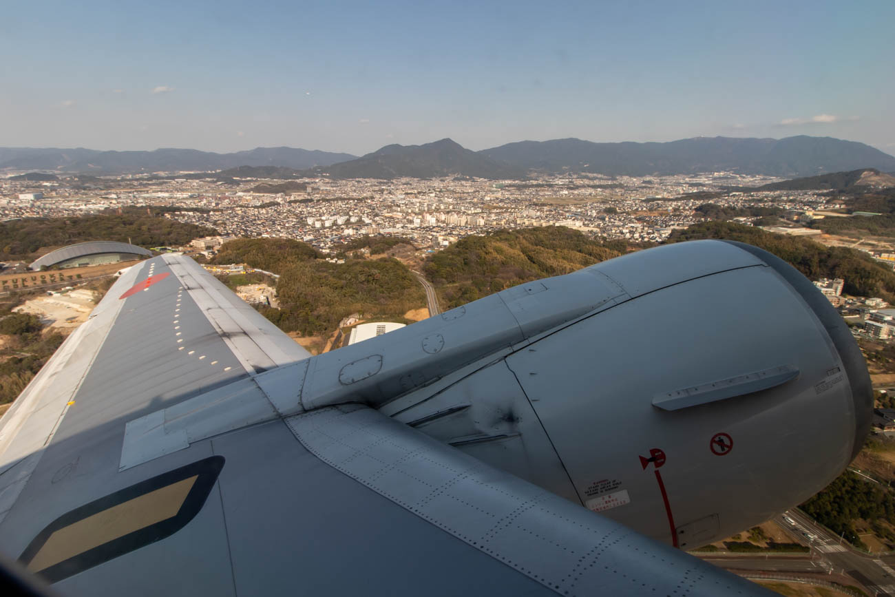 ANA 737-500 Wing View