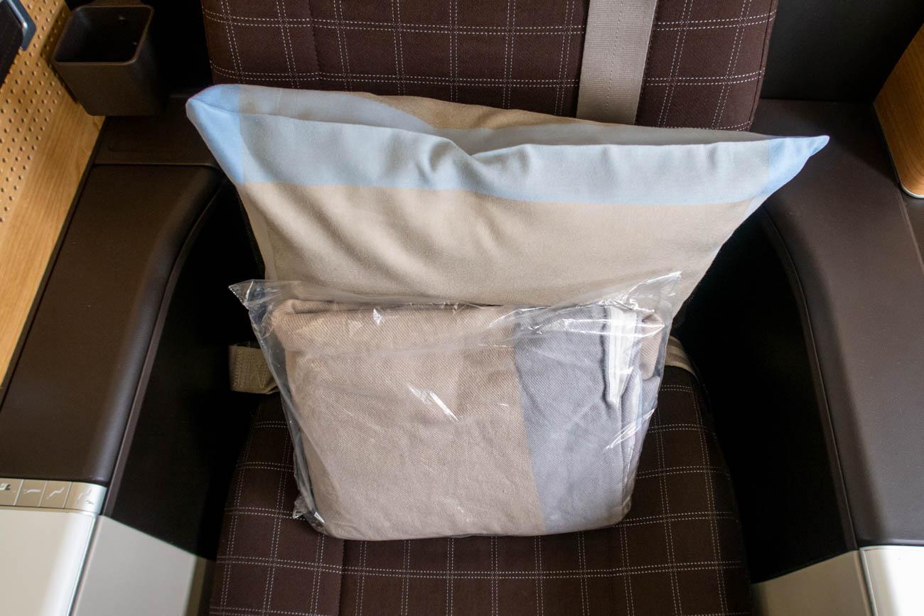 Swiss 777-300ER Business Class Pillow and Blanket