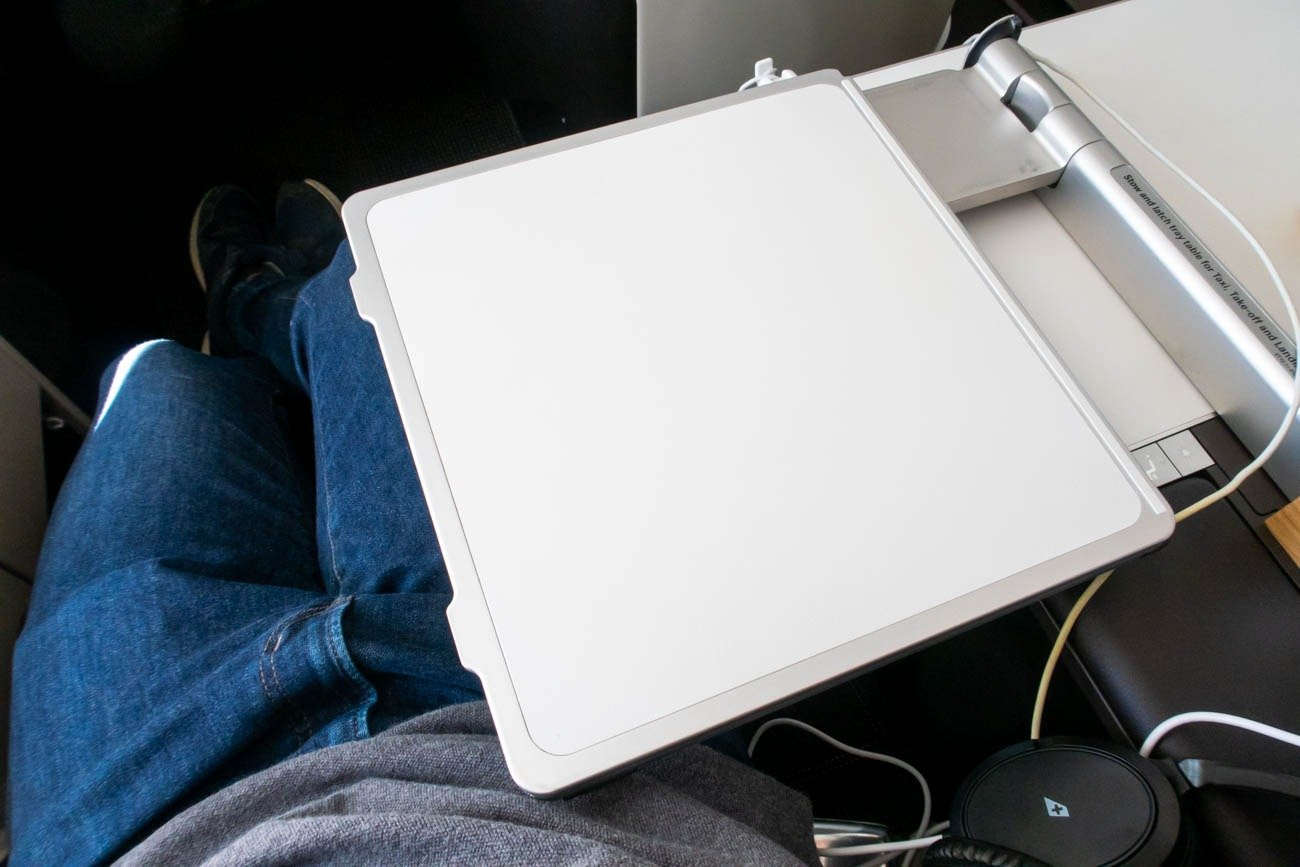 Swiss 777-300ER Business Class Tray Table