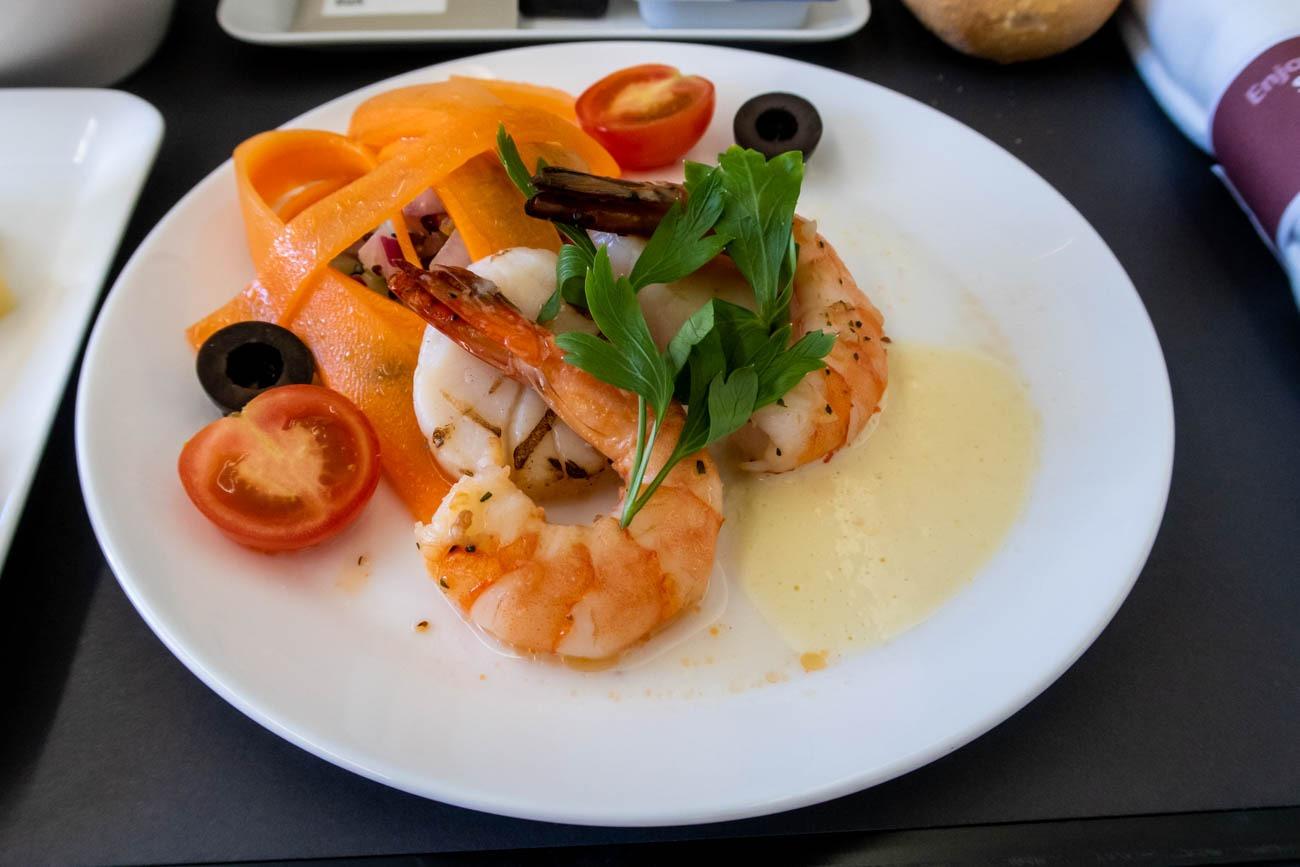 Swiss Business Class Lunch