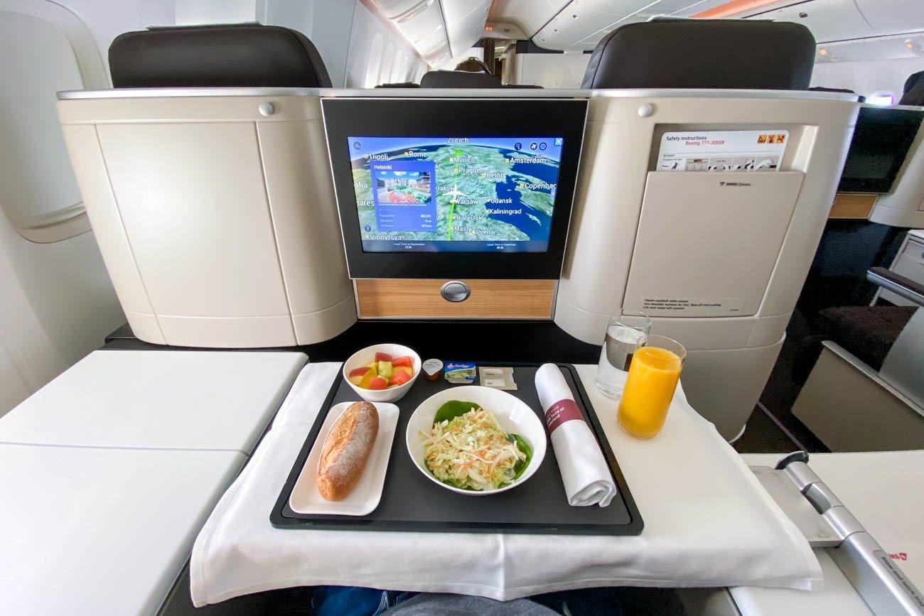 Swiss Business Class Pre-Landing Meal