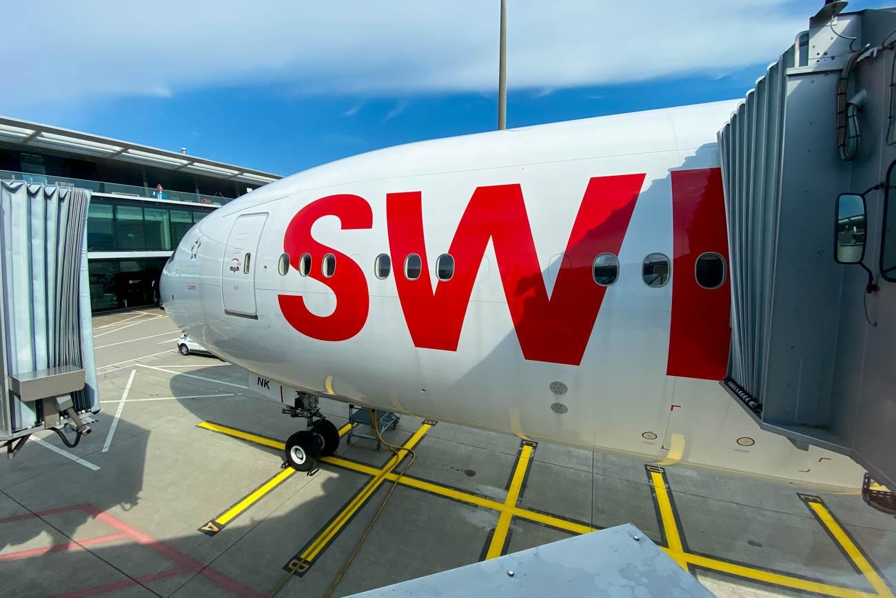 Swiss 777-300ER at Zurich Airport