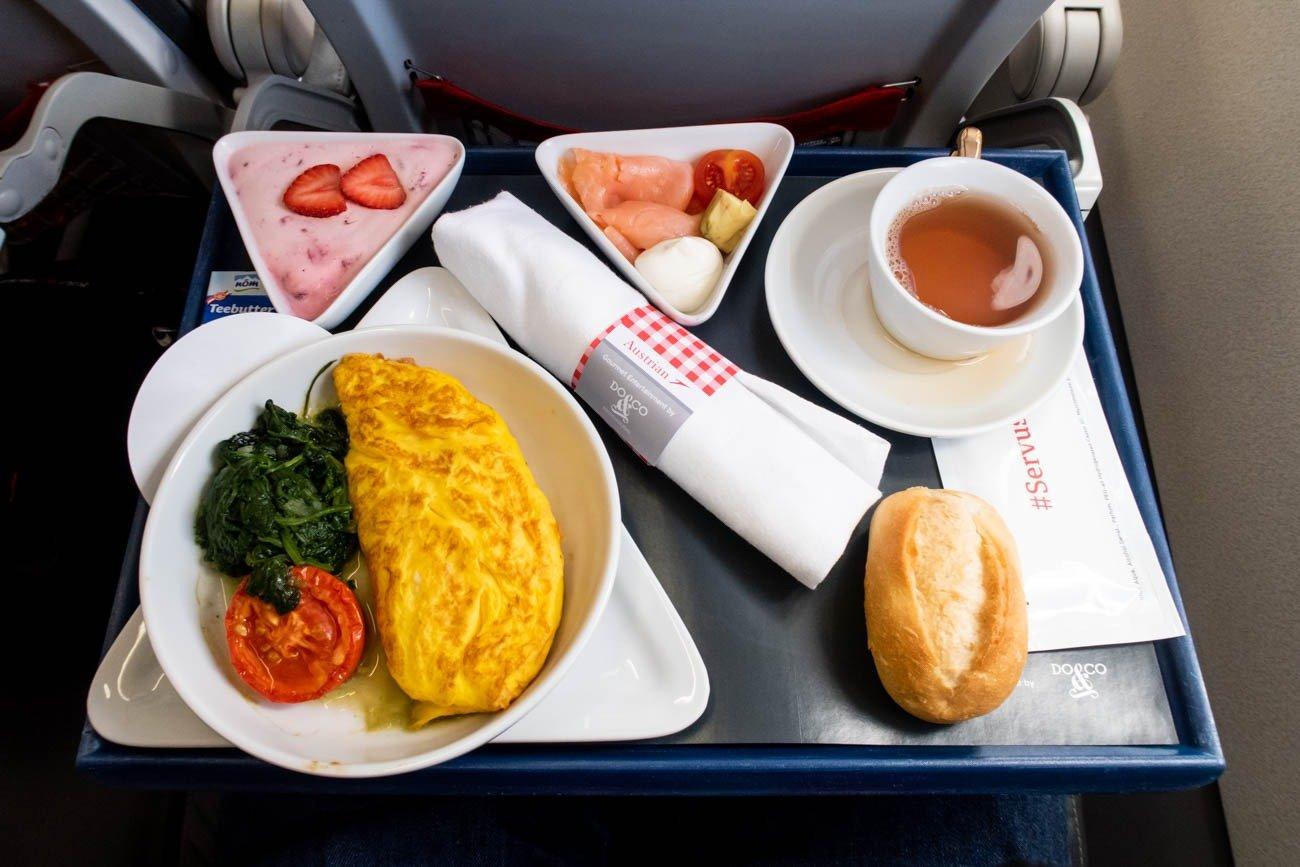 Austrian Airlines Short-Haul Business Class Breakfast