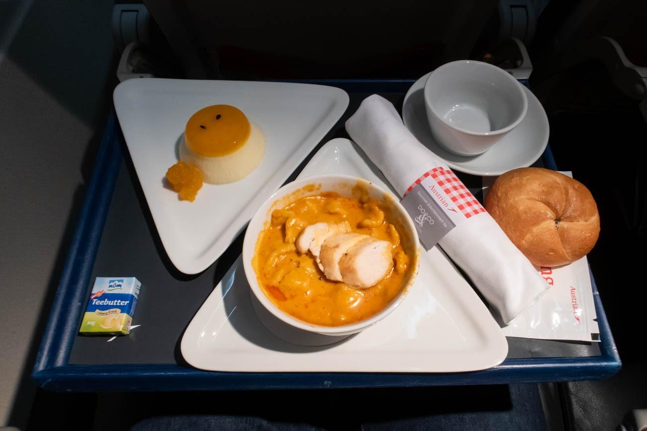 Austrian Airlines Short-Haul Business Class Dinner