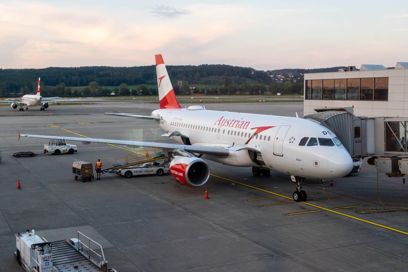 Austrian Airlines A319 in Zurich